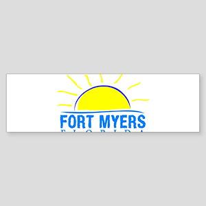 Summer fort myers- florida Bumper Sticker