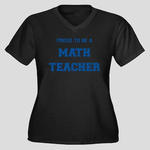 Proud to be a Math Teacher Women's Plus Size V-Nec