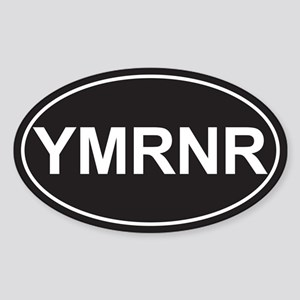 SALE! Euro YMRNR Black Oval Sticker