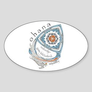 Ohana (Family) Oval Sticker