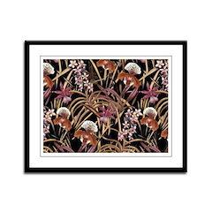 Orchid Print Framed Panel Print
