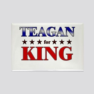TEAGAN for king Rectangle Magnet
