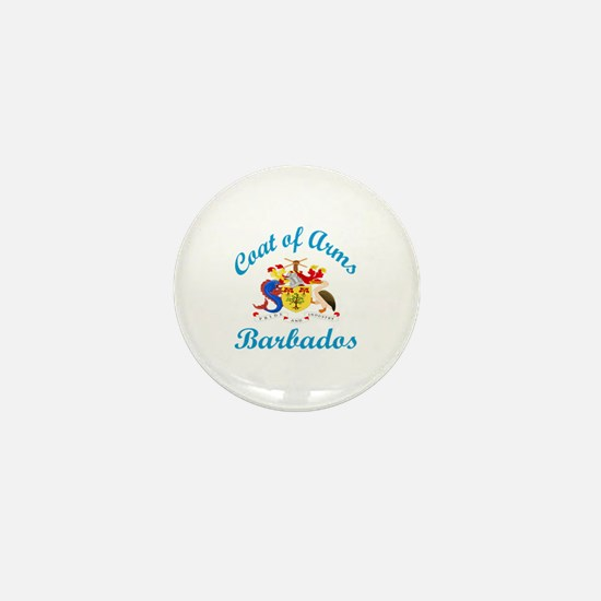 Coat Of Arms Barbados Country Designs Mini Button