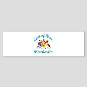 Coat Of Arms Barbados Country Des Sticker (Bumper)