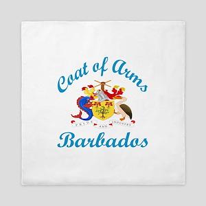 Coat Of Arms Barbados Country Designs Queen Duvet