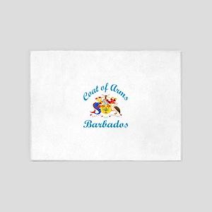 Coat Of Arms Barbados Country Desig 5'x7'Area Rug
