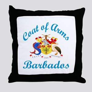 Coat Of Arms Barbados Country Designs Throw Pillow