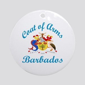 Coat Of Arms Barbados Country Desig Round Ornament