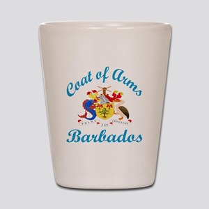 Coat Of Arms Barbados Country Designs Shot Glass