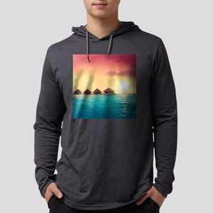 Ocean Bungalows Mens Hooded Shirt