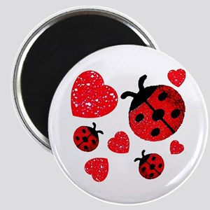 Lady Bugs and Hearts Valentin Magnet
