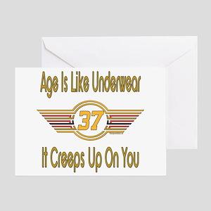 Funny 37th Birthday Greeting Card