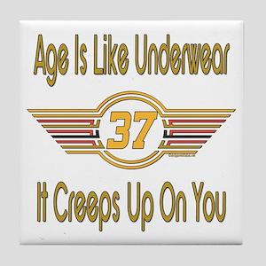 Funny 37th Birthday Tile Coaster