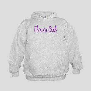 Flower Girl - Purple Rocker Kids Hoodie