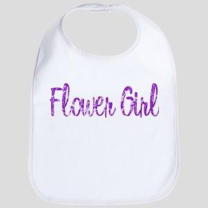 Flower Girl - Purple Rocker Bib
