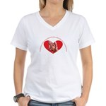 Grandmothers hold tiny hands Women's V-Neck T-Shir