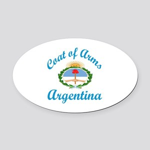 Coat Of Arms Argentina Country Des Oval Car Magnet