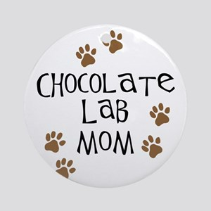 Chocolate Lab Mom Ornament (Round)