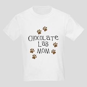 Chocolate Lab Mom Kids Light T-Shirt