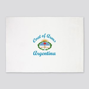 Coat Of Arms Argentina Country Desi 5'x7'Area Rug