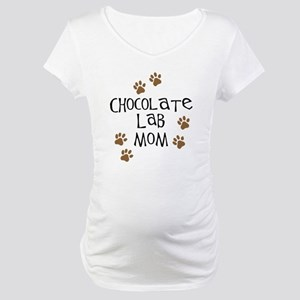 Chocolate Lab Mom Maternity T-Shirt