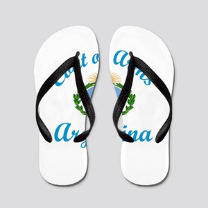 Coat Of Arms Argentina Country Designs Flip Flops