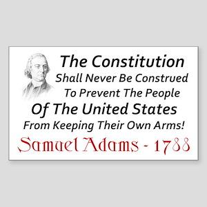 """Samuel Adams: Keep Your Arms!"" Sticker"