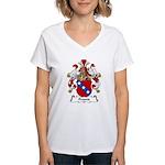 Freund Family Crest Women's V-Neck T-Shirt