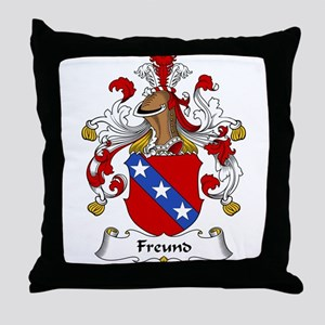 Freund Family Crest Throw Pillow