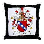 Freund Family Crest Throw Pillow