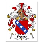 Freund Family Crest Small Poster