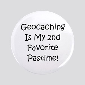 "Geocaching - 2nd Favorite Pas 3.5"" Button"