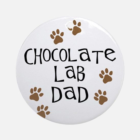 Chocolate Lab Dad Ornament (Round)