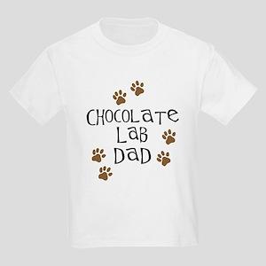 Chocolate Lab Dad Kids Light T-Shirt