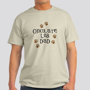 Chocolate Lab Dad Light T-Shirt