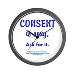 Consent is sexy Ask 5 - Wall Clock