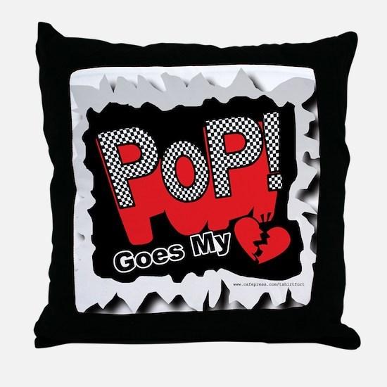 Pop my Heart Throw Pillow