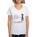 Lighthouse Women's V-Neck T-Shirt
