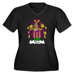 Felden Family Crest Women's Plus Size V-Neck Dark
