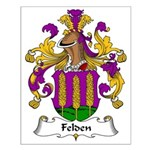 Felden Family Crest Small Poster