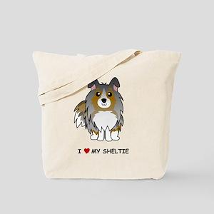 Blue Merle Sheltie Tote Bag