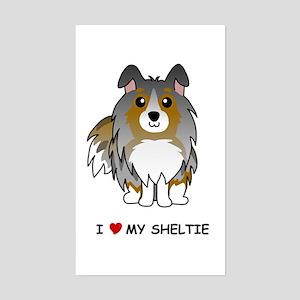 Blue Merle Sheltie Rectangle Sticker