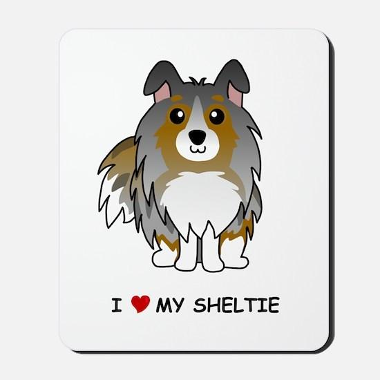 Blue Merle Sheltie Mousepad