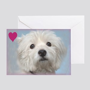Most Loyal Westie Valentine Greeting Card