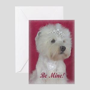 Westie Bitch Valentine Greeting Card