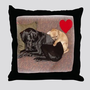 Comfy Companions Valentine Throw Pillow