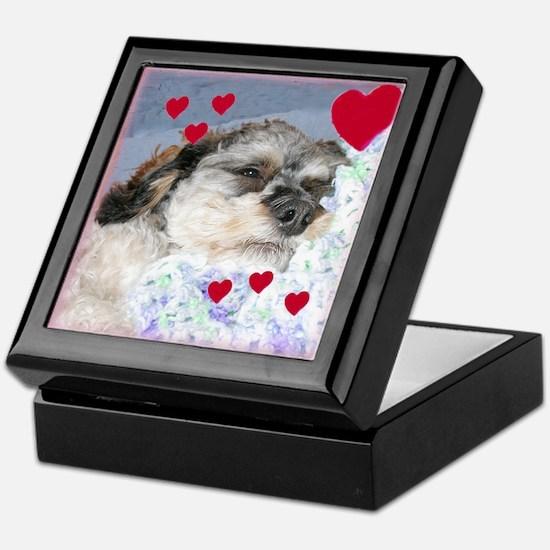 Snuggly Love Pup Valentine Keepsake Box
