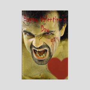 Creepy Heart Throb Valentine Rectangle Magnet