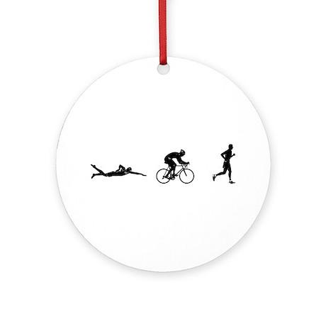 Men's Triathlon Icons Ornament (Round)