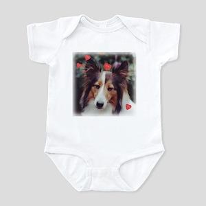 Sweet Sheltie Valentine Infant Bodysuit